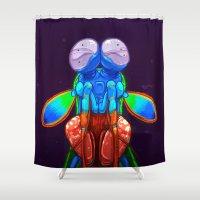 Intense Mantis Shrimp Shower Curtain