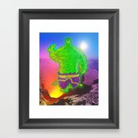 Incredible Hulk Framed Art Print