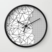 Abstraction Outline Grid… Wall Clock
