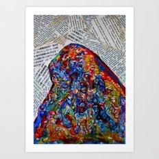YIN YANG WORDS Art Print