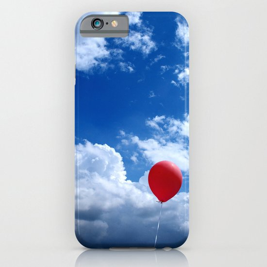 Red on Blue iPhone & iPod Case