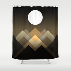 Path Between Hills Shower Curtain