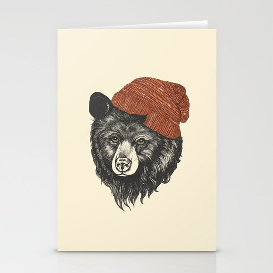zissou the bear Stationery Card