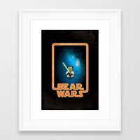 Bear Wars - The Wise One Framed Art Print