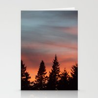 Watercolor Sunset Stationery Cards