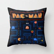 Man-Pac Throw Pillow