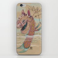 SWIMMING WITH PUPPETS iPhone & iPod Skin