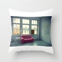 The Pink Sofa' Throw Pillow