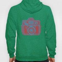 I Still Shoot Film Holga Logo - Blue & Red Hoody