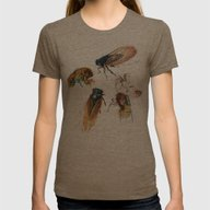 Summer Cicadas Womens Fitted Tee Tri-Coffee X-LARGE