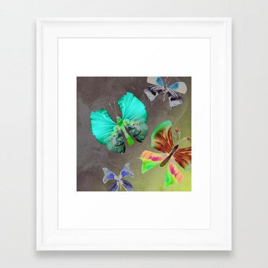 Floating Butterflies Framed Art Print
