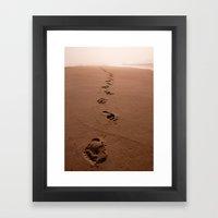 Sandy Steps Framed Art Print