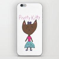 PRETTY KITTY iPhone & iPod Skin