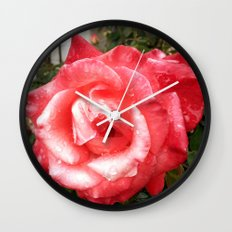 Rainy Day Rose Wall Clock