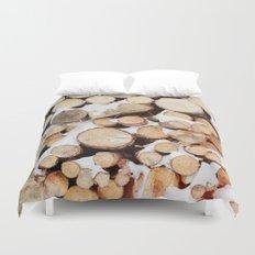 Firewood Duvet Cover