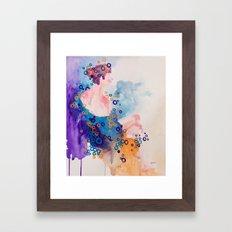 Bubble Girl Framed Art Print