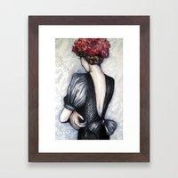 Wallflower // Fashion Il… Framed Art Print