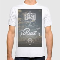 RUST Mens Fitted Tee Ash Grey SMALL