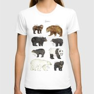 Bears Womens Fitted Tee White MEDIUM