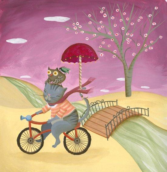 Riding the bike. Art Print