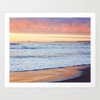 Clouds at Sunset Before the Storm, Santa Cruz Art Print