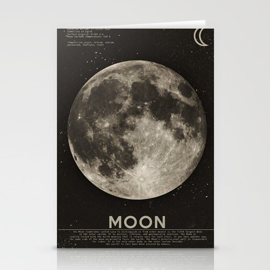The Moon Stationery Card