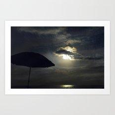 lonely umbrella Art Print