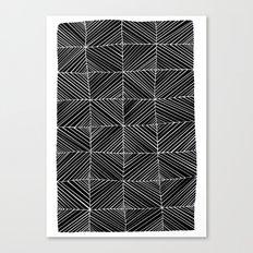 Black diagonals pattern Canvas Print