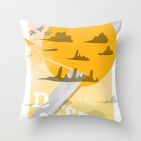 Desert Swordsman Throw Pillow