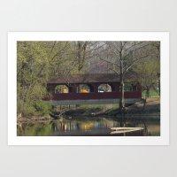 Covered Bridge At Shady … Art Print