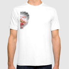Furious George Mens Fitted Tee SMALL White