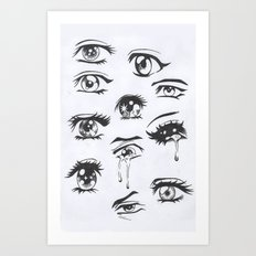 anime eyes Art Print