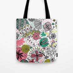Doodle Flower Tote Bag