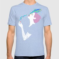 Chromatic Smoke Mens Fitted Tee Tri-Blue SMALL