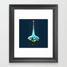 Pixel Planets : Earth Framed Art Print