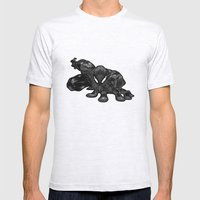 Spiderman B&W Mens Fitted Tee Ash Grey SMALL