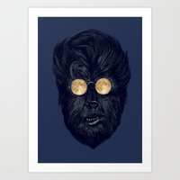 Moonglasses  Art Print