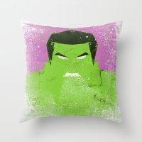 The Grunge Green Rage Throw Pillow