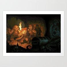 Unlucky Pirates Art Print