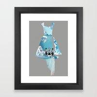 Filled With Blue Framed Art Print