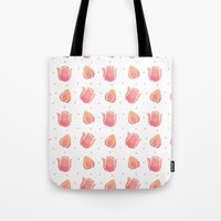 The Pink Tulip Pattern Tote Bag