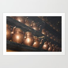 Copper Pitchers Art Print