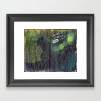 Pressed Between Pages Framed Art Print