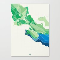 Seattle Colored Canvas Print