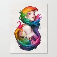 Angel Of Colors Canvas Print