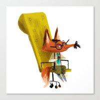 Fox Boss Canvas Print