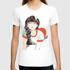 Megane Womens Fitted Tee White SMALL