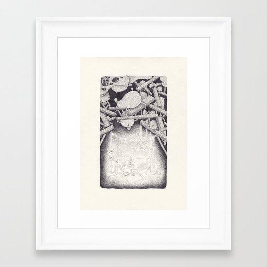 bonne nuit Framed Art Print