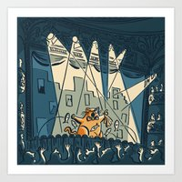 Cats On Broadway (Octobe… Art Print