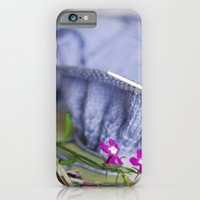 iPhone & iPod Case featuring knitting & flowers by Kristina Strasunske